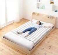布団が使える!ながく使えるデザインローベッド galom ガロム 布団が使えるベッド