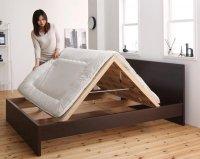 国産・デザインすのこベッド Atchison アチソン 布団が使えるベッド