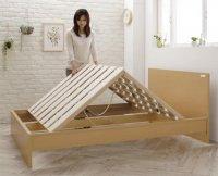 国産・デザインすのこベッド Topeka トピカ 布団が使えるベッド