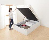 【組立設置費込】通気性抜群_ガス圧式大容量跳ね上げベッド No-Mos ノーモス 収納ベッド