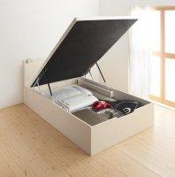 通気性抜群 棚コンセント付 大容量跳ね上げベッド Prostor プロストル 収納ベッド