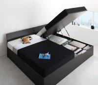 モダンデザイン_ガス圧式大容量跳ね上げベッド Criteria クリテリア ガス圧跳ね上げ式収納ベッド