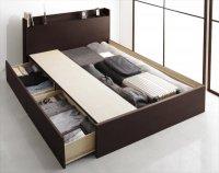 組立設置 国産 棚・コンセント付き収納ベッド Fleder フレーダー 新商品