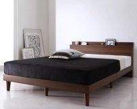 棚・コンセント付きデザインすのこベッド Reister レイスター 布団が使えるベッド