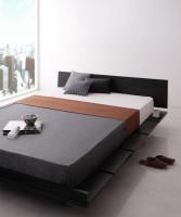 モダンデザインローベッド【Gil】ギル キングサイズ クイーンサイズ 大きいベッド