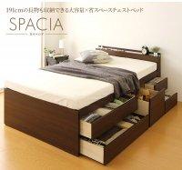 国産 宮付き 大容量 収納ベッド 『SPACIA』 引き出し収納ベッド