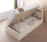 【組立設置費込】 開閉タイプが選べる跳ね上げ収納ベッド Grand L グランド・エル 大容量収納ベッド