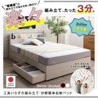 工具いらずの組み立て・分解簡単収納ベッド Lacomita ラコミタ 収納ベッド