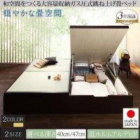組立設置付 くつろぎの和空間をつくる日本製大容量収納ガス圧式跳ね上げ畳ベッド 涼香 リョウカ 収納ベッド