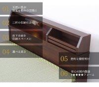 イ草2杯収納付きベッド 茶色・ブラウンベッド