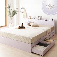 ベッド 収納付き 引き出し付き 木製 カントリー 棚付き 宮付き コンセント付き シンプル モダン ベッドフレーム