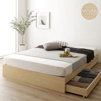 ベッド 収納付き 引き出し付き 木製 省スペース コンパクト ヘッドレス シンプル モダン BR NA ヘッドレスベッド