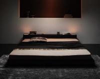 照明&隠し収納 モダンデザインフロアベッド【dignitas】ディニタス 収納ベッド