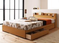 コンセント・収納ベッド【Mona】モナ ベッド