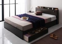 モダンライト・コンセント・収納ベッド【Yuan】ユアン シングルベッド