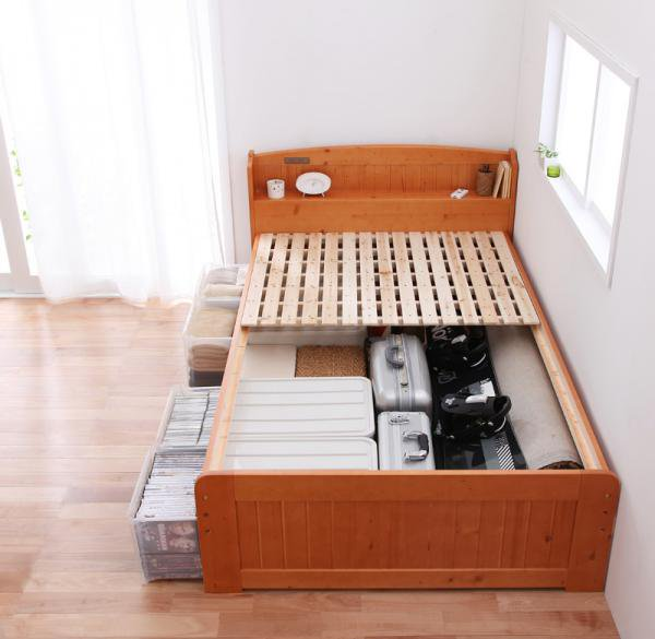 高さが調整出来る宮付きすのこベッド【pittarida】ピッタリダ