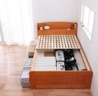 高さが調整出来る宮付きすのこベッド【pittarida】ピッタリダ シングルベッド
