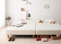 ベーシックポケットコイルマットレス【ベッド】 キングサイズ クイーンサイズ 大きいベッド