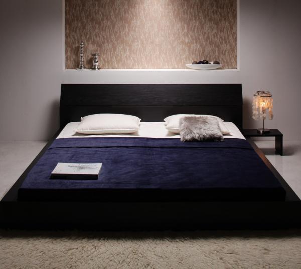 モダンデザインローベッド 【The Queen&King Low Bed】