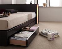 モダンライト・コンセント 収納ベッド【Noble】ノーブル コンセント付きベッド