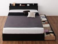 棚・コンセント 収納ベッド【Umbra】アンブラ 棚付きベッド
