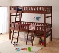 収納ができる天然木分割式2段ベッド【Pacio】パシオ シングルベッド
