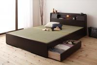 照明・棚・畳収納ベッド【月下】Gekka 棚付きベッド
