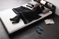 照明・棚・フロアベッド【ROSSO】ロッソ:ロングサイズ キングサイズ クイーンサイズ 大きいベッド