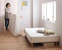 新・移動ラクラク 分割式ポケットコイルマットレスベッド シングルベッド