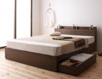 棚・コンセント収納ベッド【General】ジェネラル コンセント付きベッド