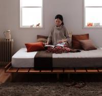 北欧デザインベッド【Kaleva】カレヴァ 脚付きベッド レッグベッド