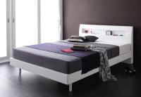 棚・コンセント デザインすのこベッド【Alamode】アラモード 脚付きベッド レッグベッド