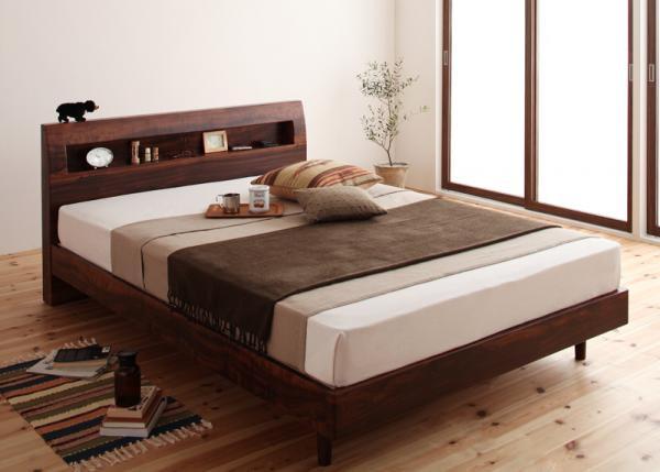 棚・コンセント デザインすのこベッド【Haagen】ハーゲン