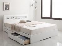 棚・コンセント デザイン収納ベッド【Silvia】シルビア 収納ベッド