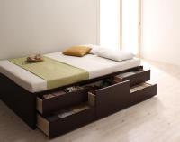 お客様組立 国産シンプルチェストベッド【Dixy】ディクシー 引き出しBOX構造ベッド