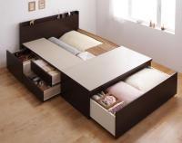 お客様組立 布団が収納できるチェストベッドFu-ton【ふーとん】 収納ベッド