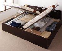 お客様組立 国産跳ね上げ収納ベッド【Clory】クローリー 収納ベッド