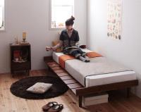 ショート丈北欧デザインベッド【Niels】ニエル ショートベッド 短いベッド