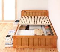 高さが調節できる!コンセント・天然木すのこベッド【Fit-in】フィット・イン ダブルベッド