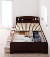 高さが調整できる!棚・コンセント付きすのこベッド【Fits】フィッツ ダブルベッド