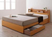 棚・コンセント 収納ベッド【Coty】コティ 組立設置サービスあり
