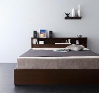 棚・コンセント・収納ベッド【Sign】サイン シングルベッド
