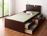 お客様組立 コンセント・モダン畳チェストベッド【悠然】ゆうぜん 引き出しBOX構造ベッド