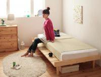 ショート丈北欧デザインベッド【Pieni】ピエニ 脚付きベッド レッグベッド