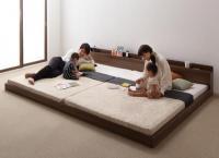 将来分割して使える・大型モダンフロアベッド【LAUTUS】ラトゥース シングルベッド