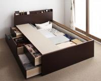 【組立設置費込み】棚・コンセント・チェストベッド【Steady】ステディ 組立設置ベッド