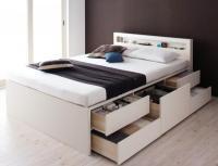 【組立設置費込】 棚・コンセント・チェストベッド【Lagest】ラジェスト 組立設置ベッド