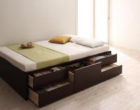 【組立設置費込】シンプルチェストベッド【Dixy】ディクシー 引き出しBOX構造ベッド