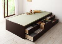 【組立設置費込】 シンプルモダン畳チェストベッド【翠緑】すいりょ 茶色・ブラウンベッド