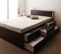 【組立設置費込】モダンライト・コンセント・チェストベッド【Huette】ヒュッテ 組立設置ベッド